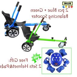 2x Adjustable balance Seat Scooter Cart Attachment Two wheel
