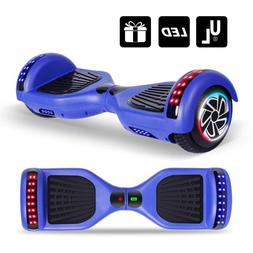 """6.5"""" All Terrain Hover boards Electric Blue 2 Led Wheels Sel"""