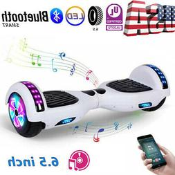 "6.5"" Bluetooth Hoverboard Electric Balancing Scooter White H"