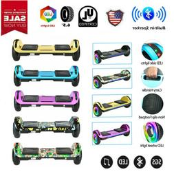 "6.5"" Bluetooth Electric Hoverboard Self Balancing LED Scoote"