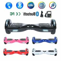 "6.5"" Bluetooth Self Balancing Scooter Smart Hover Board Safe"