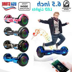 "6.5"" Electric Hoverboard Smart Self Balancing Scooter w/ LED"