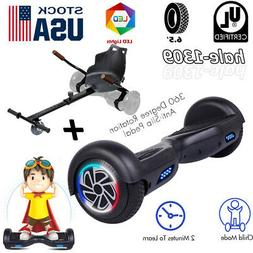 "6.5"" Hoverboard LED Self Balancing Scooter UL no Bag+Go-kart"