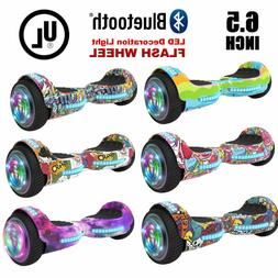 6 5 hoverboard with bluetooth led flash