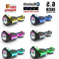 6.5 inch Hoover board LED FLASHING WHEELS Chrome Color Scoot
