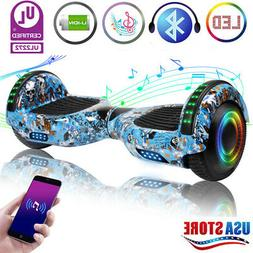 6.5 LED Bluetooth Hoover board electric self-balancing scoot