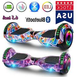 6 5 led hoverboard electric self balancing