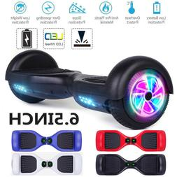 """6.5"""" LED Wheels Hoverheart Hoover boards Chrome Electric Sel"""