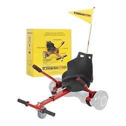 GoToWheels Adjustable Hoverboard Kart Seat Attachment Holder