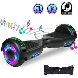 black bluetooth hoverboard with bag led light