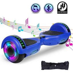 "Blue 6.5"" Bluetooth Hoverboard for Kids Electric Scooter Bal"