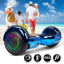 Blue 6.5 inch Bluetooth Hoverboard Self Balancing Scooter fo