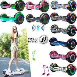6.5/8.5'' UL2272 Bluetooth Hoverboard Balance Scooter Skateb