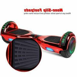 Bluetooth Hoverboard Hoverheart Balancing Scooter LED Chrome