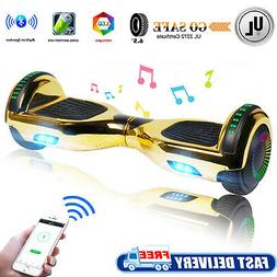 Chrome Bluetooth Hoverboard Electric Self Balance Scooter no