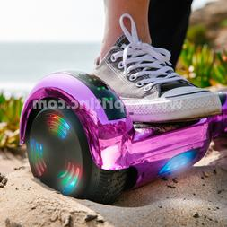 "Chrome Hoverboard Scooter Bluetooth Color Lighted 6.5"" XPRIT"