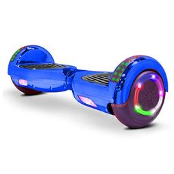 V-Fire Electric Self-Balancing Scooter, Chrome Blue