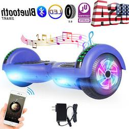 "Hoverboard 6.5"" Bluetooth Speaker Self Balancing Scooter LED"