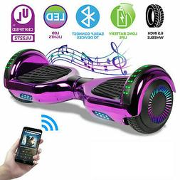 Hoverboard Bluetooth LED Chrome Electric Self Balancing Scoo