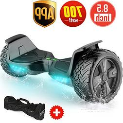TOMOLOO Hoverboard with App and LED Lights Two-Wheel Bluetoo