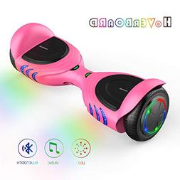 TOMOLOO Hoverboards with Bluetooth Speakers and Led Lights,