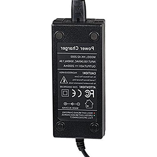 hothuimin 42V 2A Power Adapter Power Mod, Dirt Quad Charger#24-SPQ