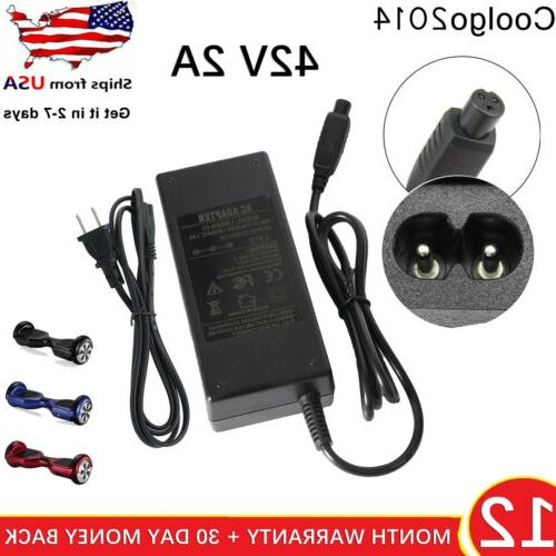 scooter charger for hoverboard 42v 2a charger
