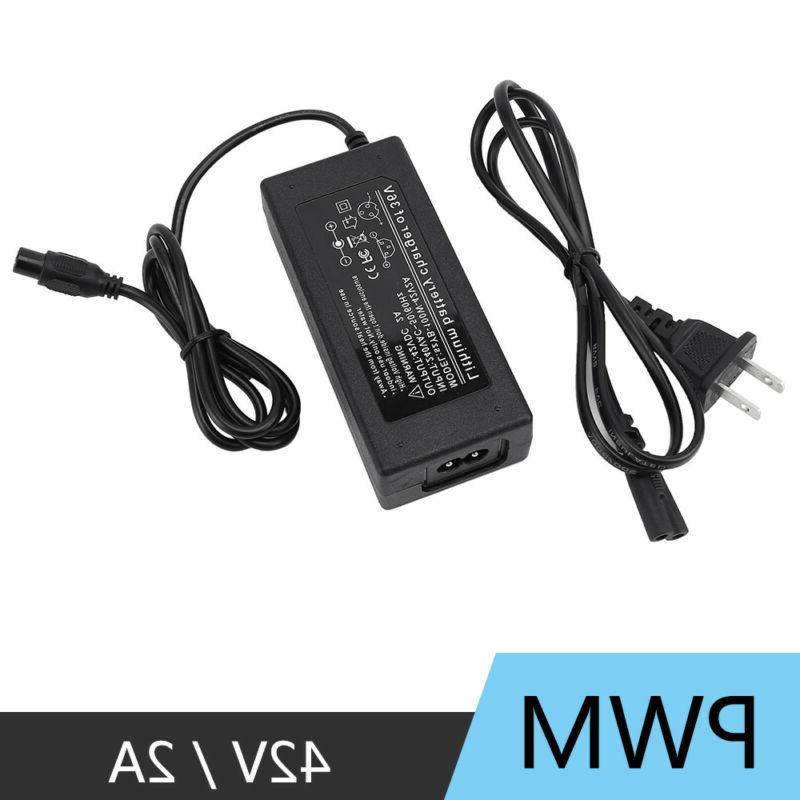 42V 2A Power Adapter Charger 2 Self Balancing Scooter US