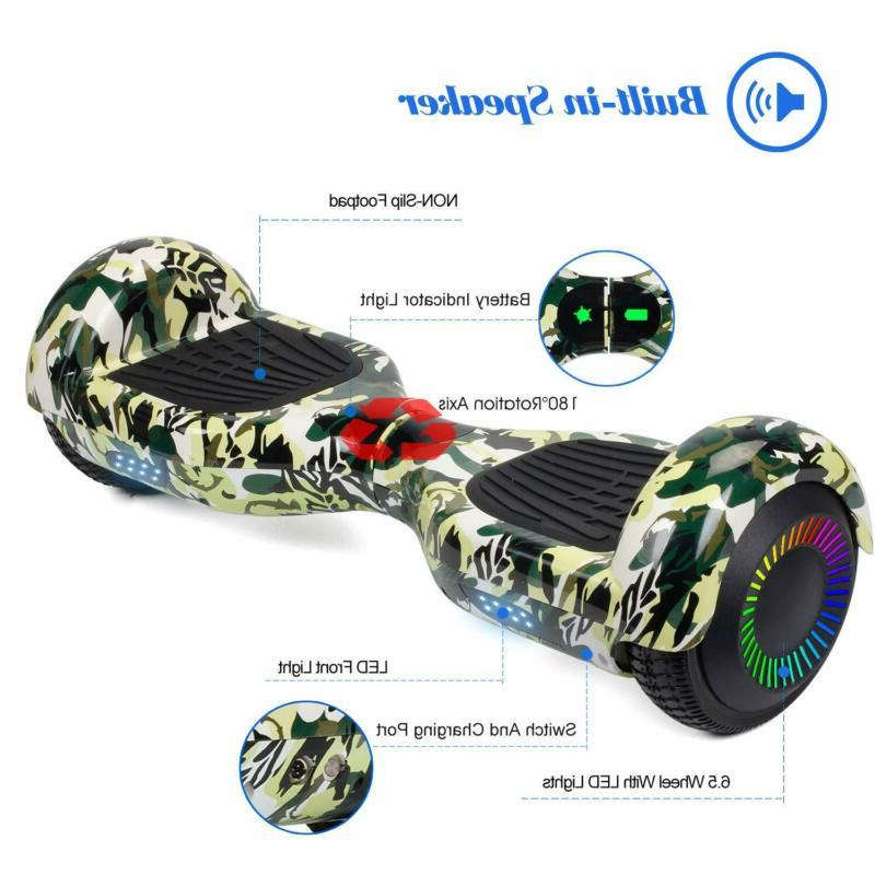 """6.5"""" terrain xtremepowerus Hoverboard Chrome Electric Balancing Scooter"""