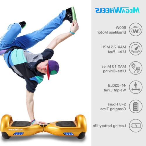 "6.5"" BLUETOOTH BOARD SELF BALANCING SCOOTER LED"