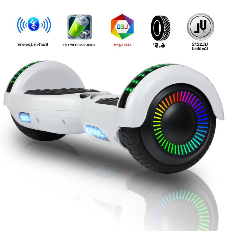 6 5 bluetooth electric hoverboard scooter led