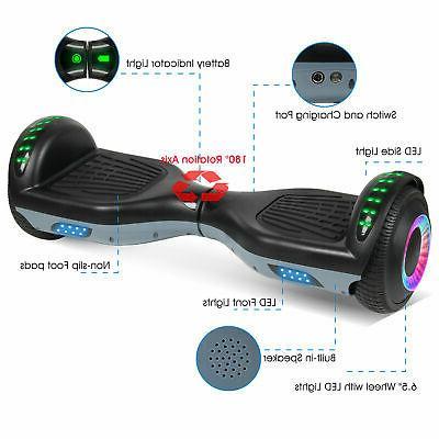 "6.5"" LED Self Balance Electric Scooter Black+Gray No Bag US"