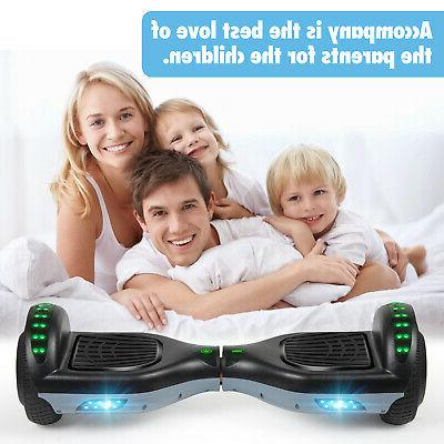 """6.5"""" Bluetooth Hoverboard LED Self Black+Gray"""