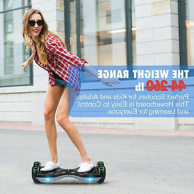 "6.5"" Hoverboard LED Self Balance Electric Black+Gray Bag"