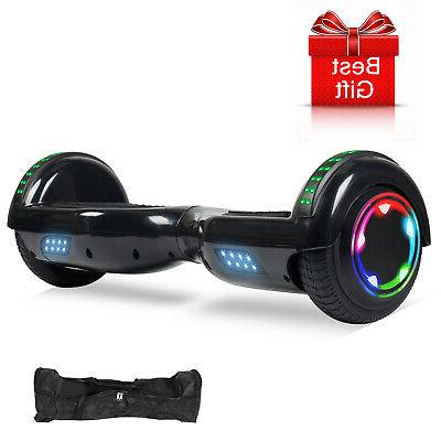 "6.5"" Bluetooth 2 Wheel Electric Scooter Hoverboard UL2272+Led+Bag"