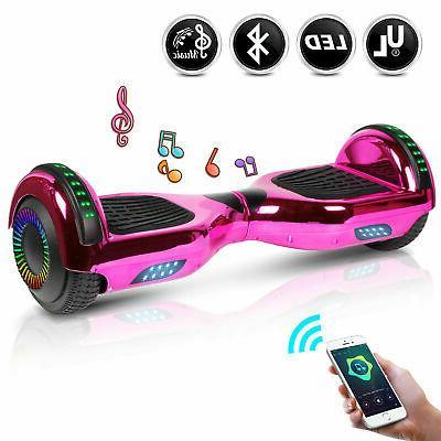 """6.5"""" Bluetooth Speaker Hoverboard Self LED UL2272 USA"""