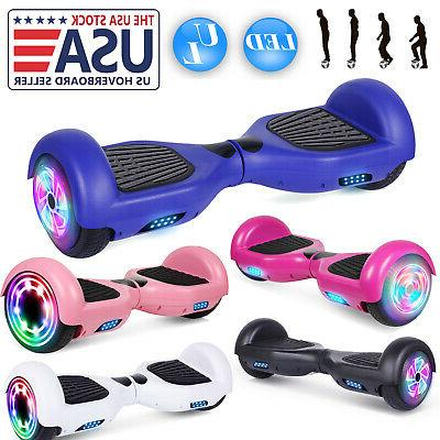 6 5 electric hoverboard led self balancing