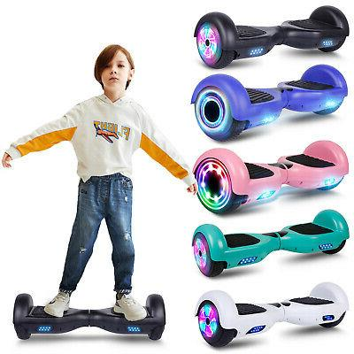 6 5 electric hoverboard led ul self