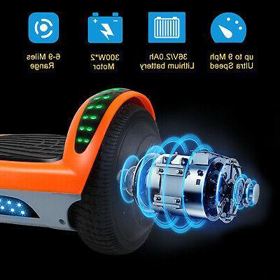 "6.5"" LED Electric Self Balancing Bluetooth UL2272 Bag"