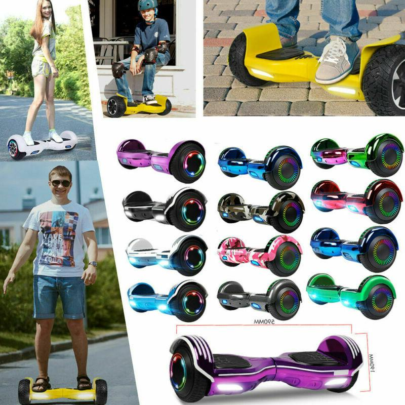 "6.5"" Bluetooth Hoverboard Self Balancing LED Scooter Board"