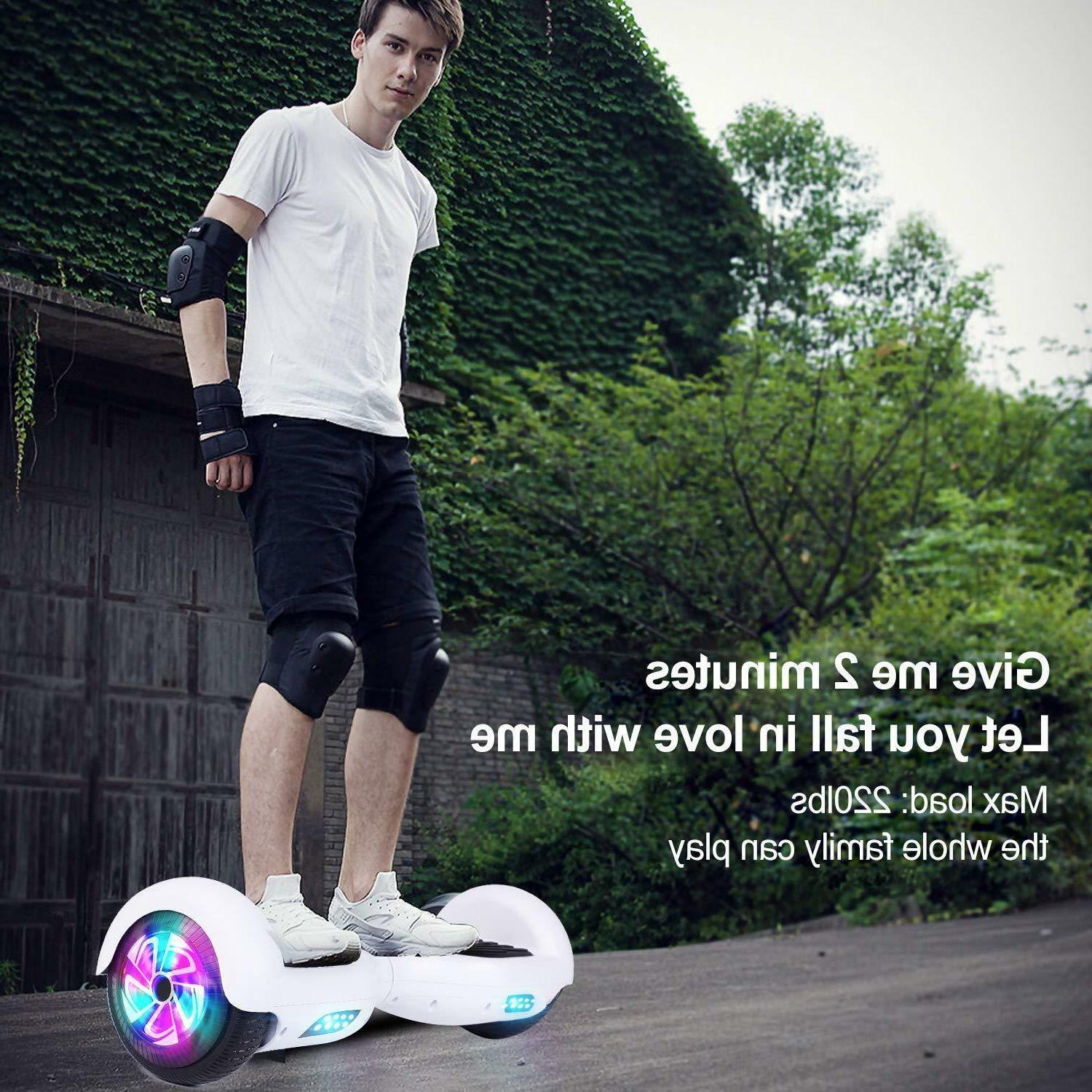 """6.5"""" Bluetooth Hoverboard Self Balancing LED Light Scooter"""