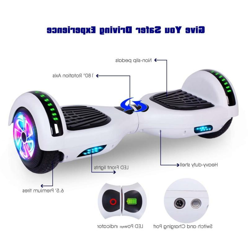 "6.5"" Self Balancing Lights Speaker Scooter Hover"