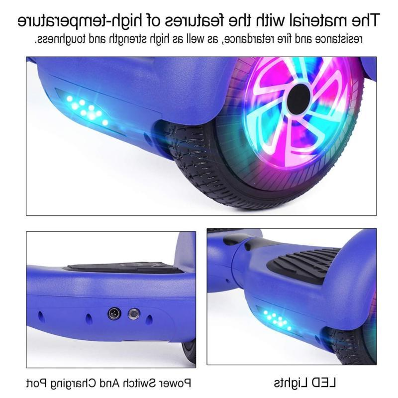"6.5"" Hoverboard Electric Self Balancing Lights Scooter Hover"