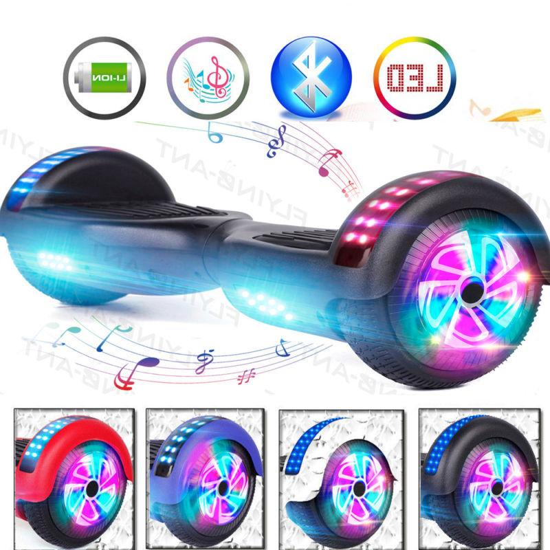 6 5 hoverboard electric self balancing led