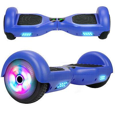 "6.5"" Hoverboard LED Self Balancing Blue Skateboard UL Bag"