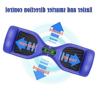 "6.5"" Hoverboard LED Balancing Blue Skateboard Bag"