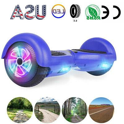 6 5 hoverboard led self balancing blue
