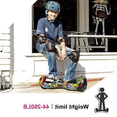 "6.5"" Hoverboard LED Sidelights Electric Balance Scooter UL2272 Road+bag"
