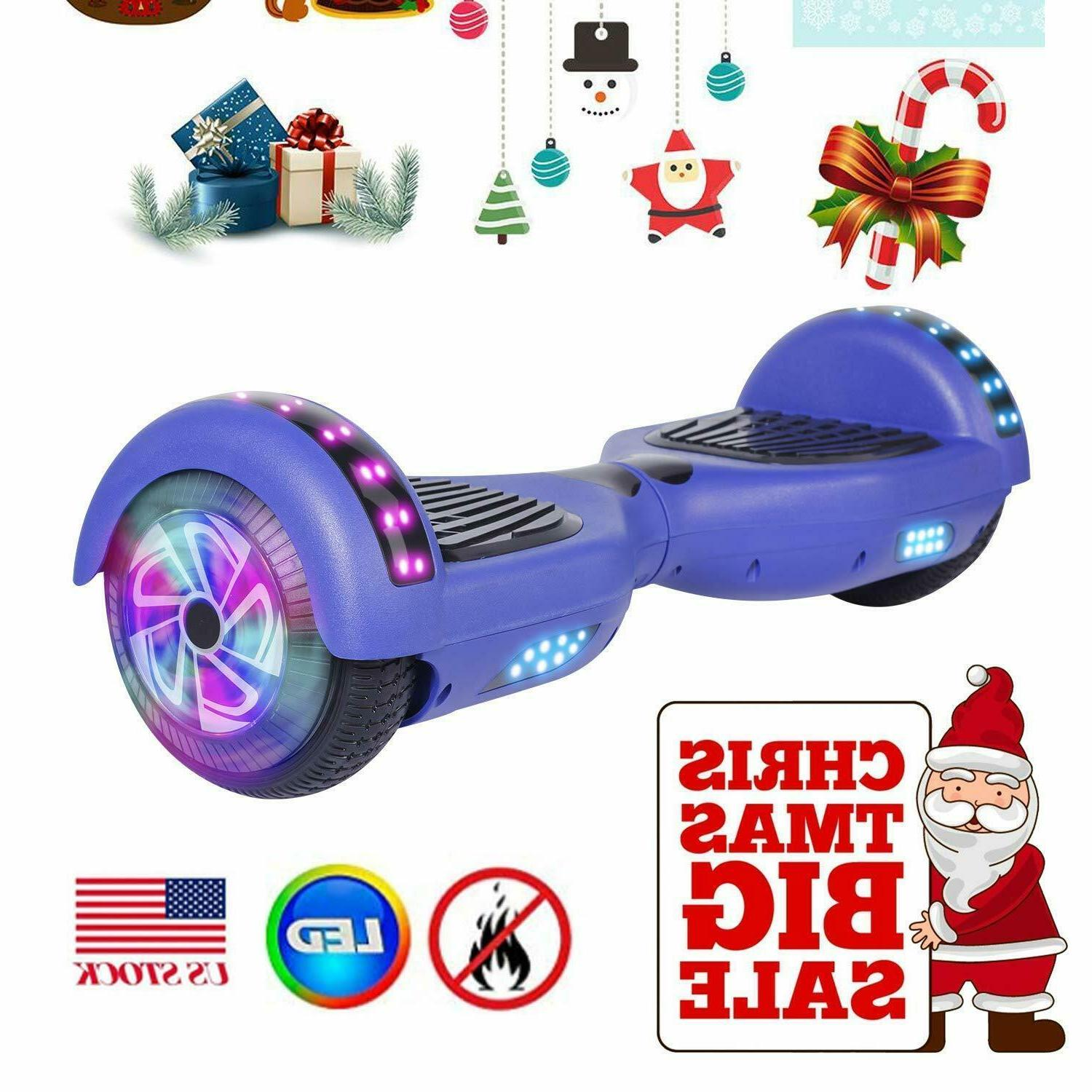 """6.5"""" Bluetooth Speaker Swagtron Hover Board Scooter LED Adult"""