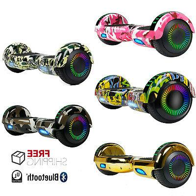 6 5 inch chrome rainbow hoverboard bluetooth